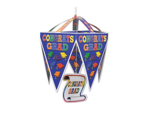 Beistle Home Festival Party Supplies Congrats Grad Pennant Chandelier 11 1/2