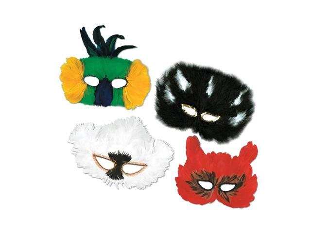 Beistle Home Festival Party Supplies Classic Fanci-Feather Masks