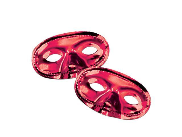 Beistle Home Festival Party Supplies Metallic Half Mask - Red