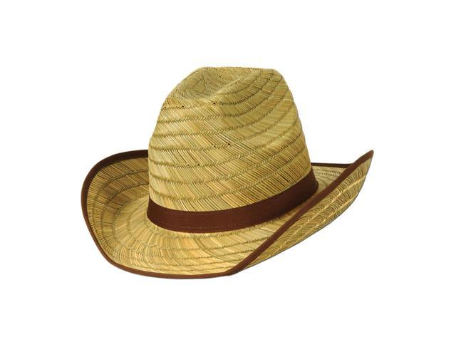 Beistle Home Festival Party Supplies Adult Cowboy Hat w/Brown Trim & Band