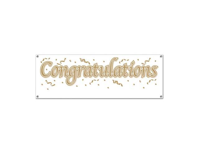 Beistle Home Festival Party Supplies Congratulations Sign Banner 5' x 21