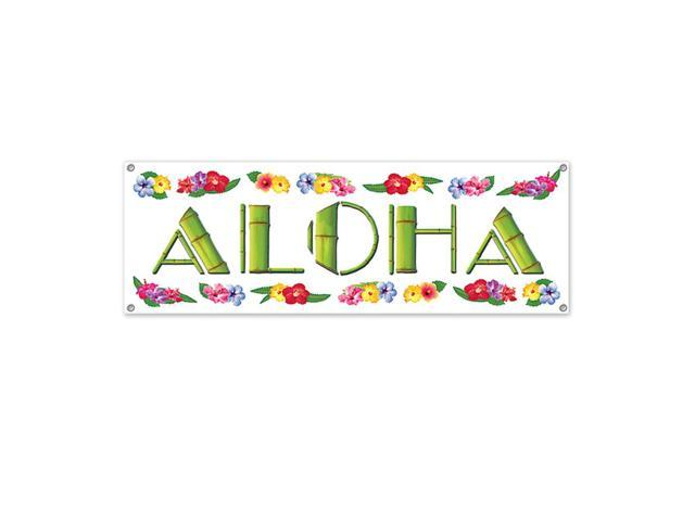 Beistle Home Festival Party Supplies Aloha Sign Banner 5' x 21