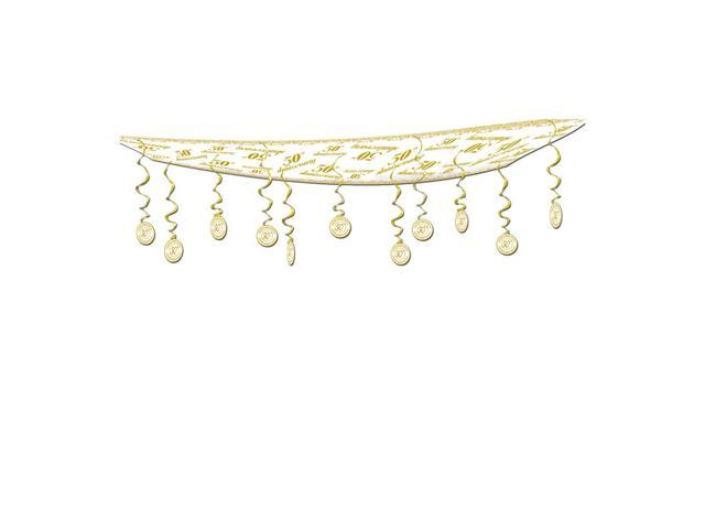 Beistle Home Party Supplies 50th Anniversary Ceiling Decor 12