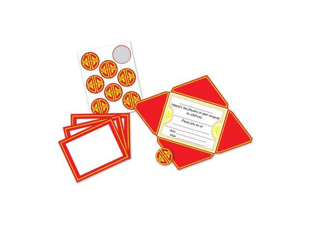 Beistle Home Party Supplies Chinese Invitations & Seals 4 1/2