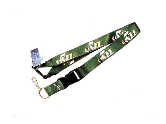 Utah Jazz Clip Lanyard Keychain Id Ticket Holder - Green