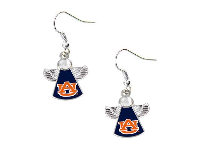 NCAA Auburn Tigers Crystal Angel Wing Dangle logo Earring Set