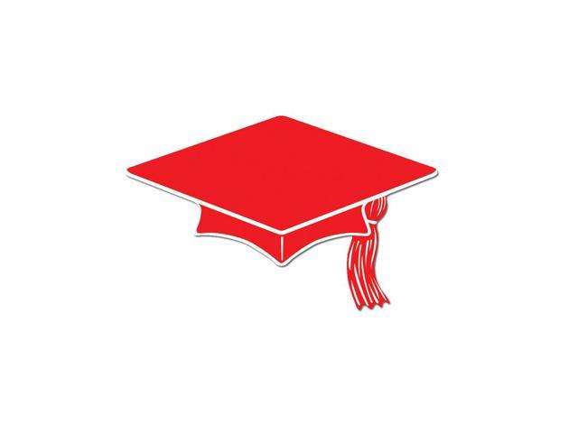Beistle Home Decorations Party Supplies Mini Grad Cap Cutouts Red 4