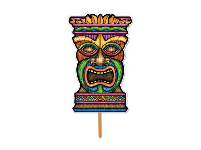 Beistle Home Decorations Party Supplies 3-D Plastic Tiki Yard Sign 17.5