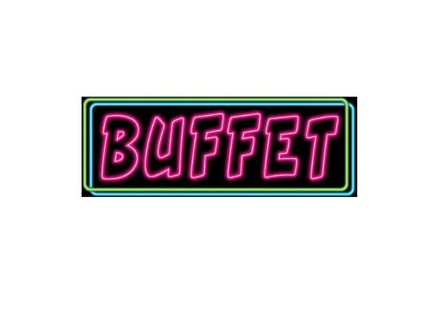 Beistle Home Decorations Party Supplies Neon Buffet Sign 8