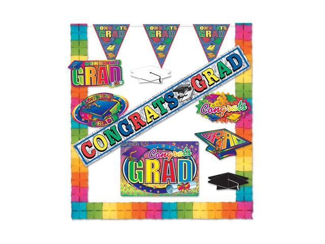 Beistle Home Decorations Party Supplies Graduation Party Kit (10 Count)