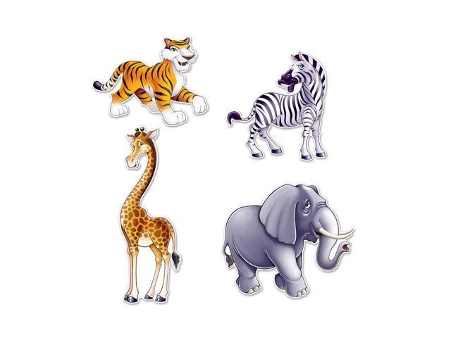 Beistle Home Decorations Party Supplies Jungle Animal Cutouts 15.5