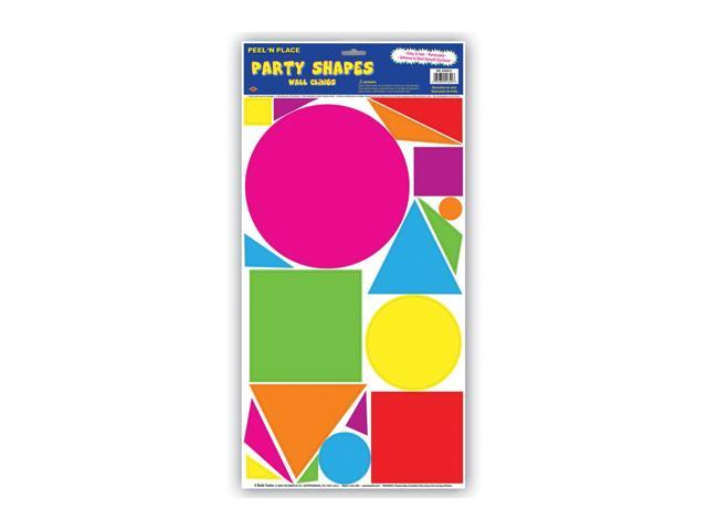 Beistle Home Decorations Party Supplies Party Shapes Peel 'N Place 12