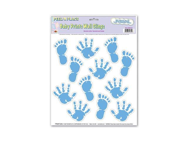 Beistle Home Decoration Party Supplies Baby Prints Peel 'N Place Light Blue 12
