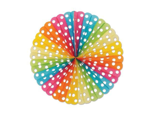 Beistle Home Decorations Party Supplies Polka Dot Tissue Fan 25
