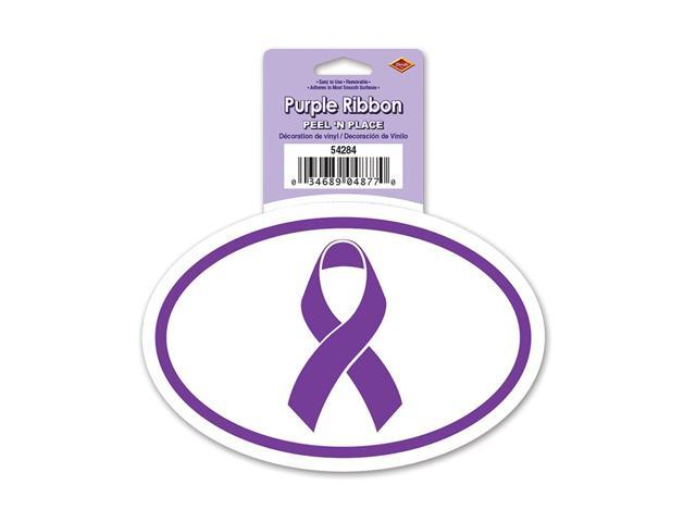 Beistle Home Decorations Party Supplies Purple Ribbon Peel 'N Place 6