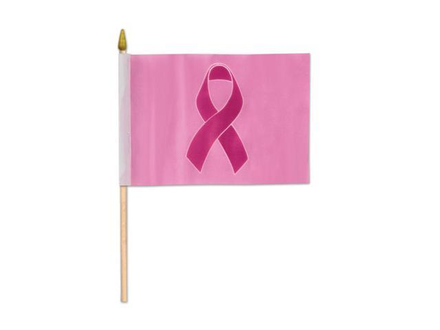 Beistle Home Decorations Party Supplies Pink Ribbon Flag - Rayon 4
