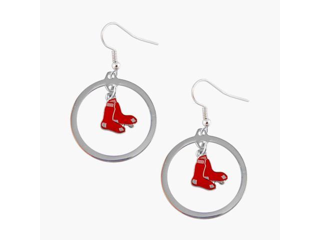 Boston Red Sox Hoop Logo Earring Set Mlb Charm