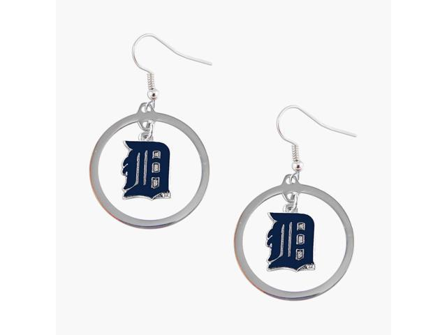 Detroit Tigers hoop Logo Earring Set Mlb Charm