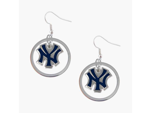 New York Yankees Hoop Logo Earring Set Mlb Charm