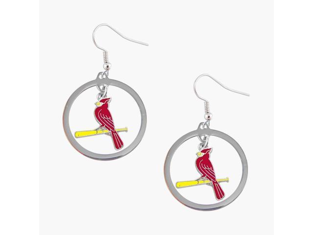 St Louis Cardinals Hoop Logo Earring Set Mlb Charm