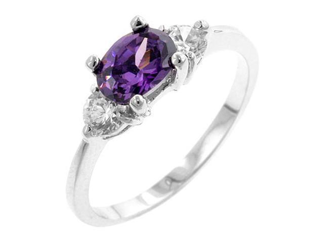 J Goodin Oval Sonnet Cubic Zirconia Ring Size 9