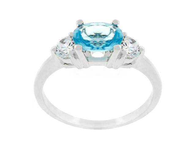 J Goodin Oval Serenade Triplet Ring Size 7