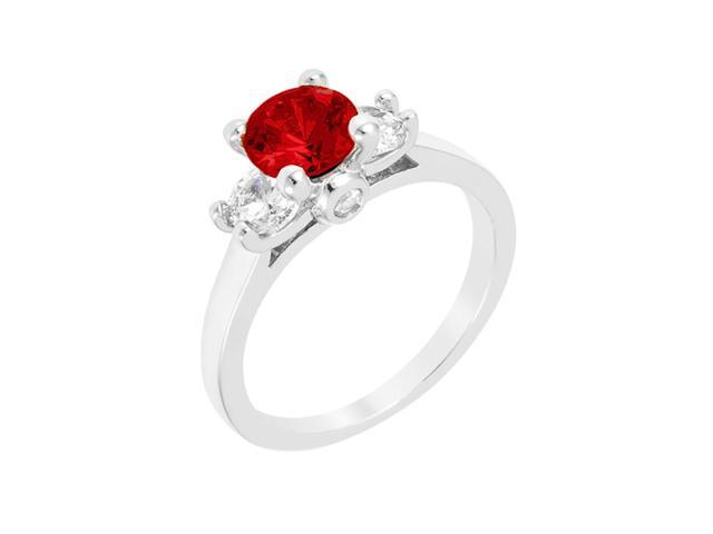 J Goodin Mini Ruby Triplet Ring Size 8
