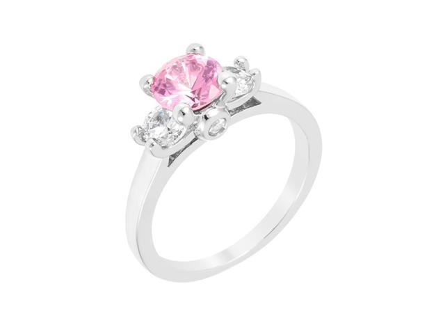 J Goodin Mini Pink Ice Triplet Ring Size 6