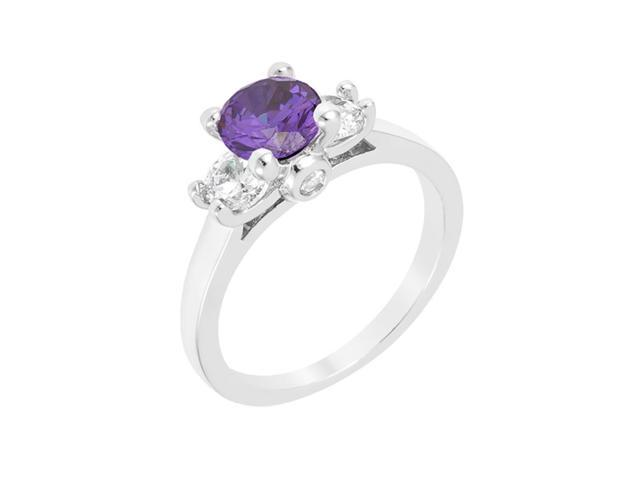 J Goodin Mini Amethyst Triplet Ring Size 7