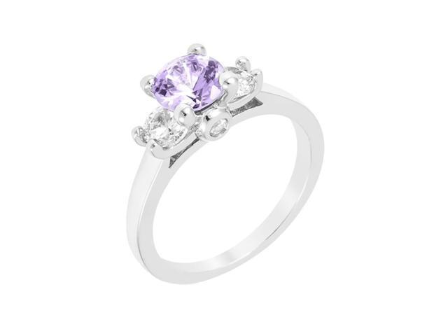 J Goodin Mini Lavender Triplet Ring Size 8