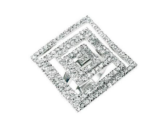 J Goodin Cubic Zirconia Maze Cocktail Ring Size 9