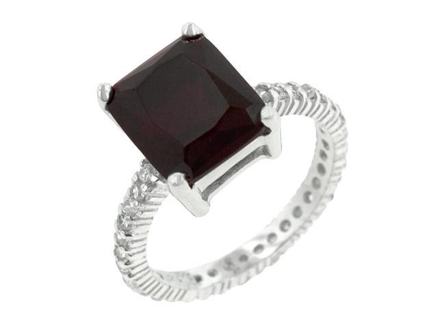 J Goodin Radiant Cut Ruby Engagement Ring Size 5