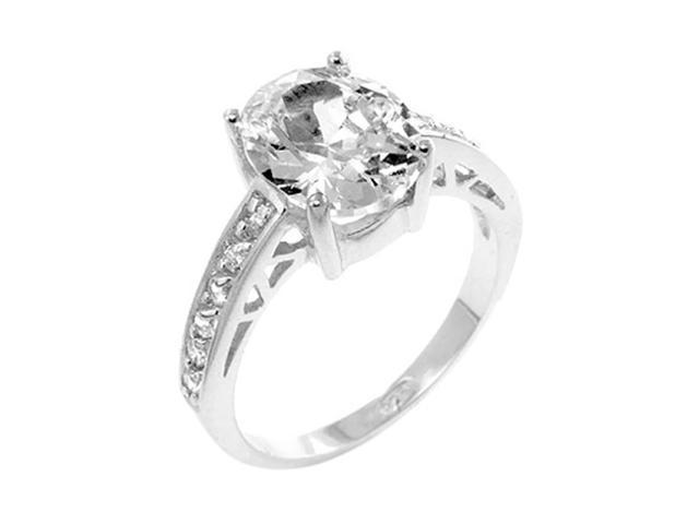 J Goodin Oval Center Piece Engagement Ring Size 7