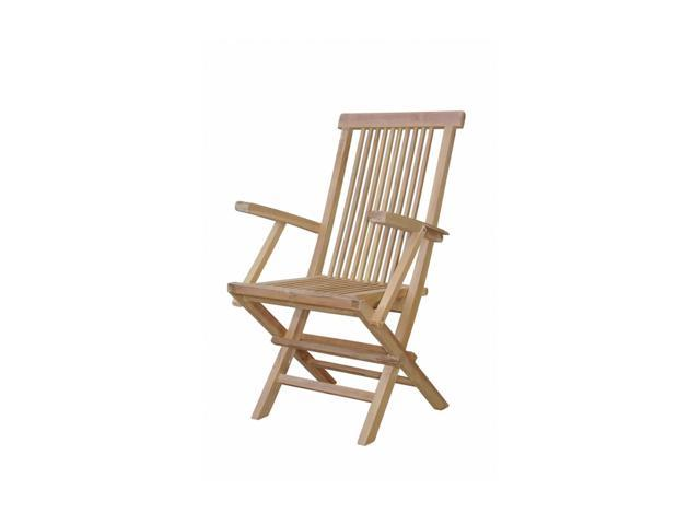 Anderson Teak Patio Lawn Furniture Bristol Folding Armchair