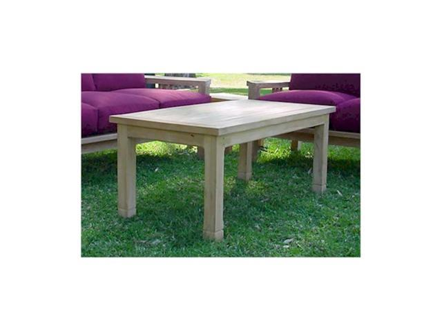 Anderson Teak Patio Lawn Furniture SouthBay Rectangular Coffee Table
