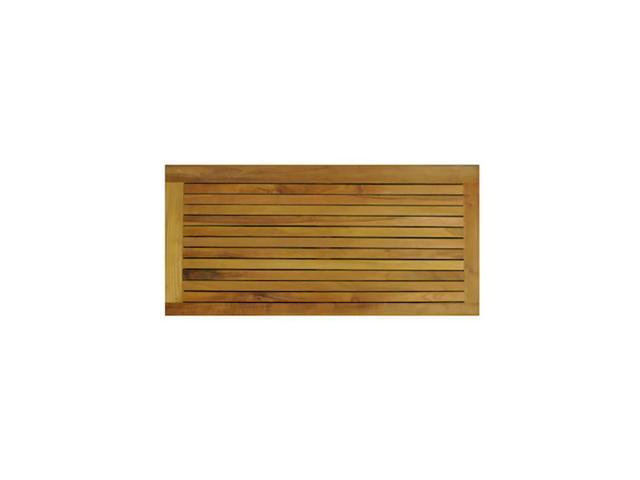 Anderson Teak Patio Lawn Furniture Rectangular Shower Mat