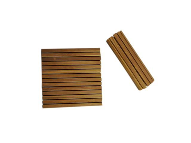 Anderson Teak Patio Lawn Furniture Shower Mat Roll It and Go