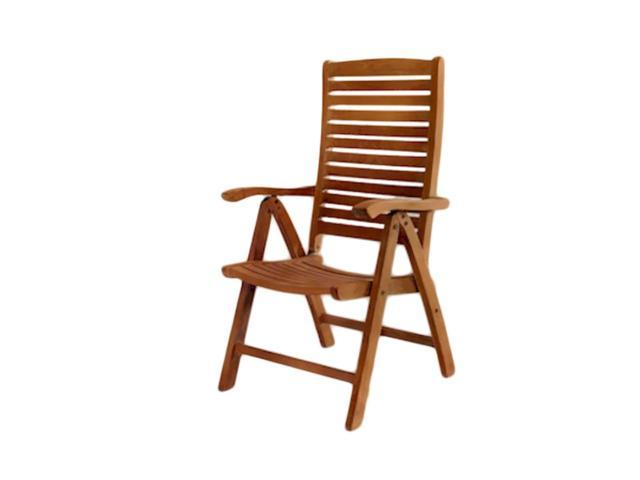 Anderson Teak Patio Lawn Furniture Carina 5-Position Highback Recliner