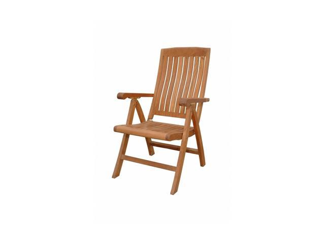 Anderson Teak Patio Lawn Furniture Katana 5-Position Recliner Armchair