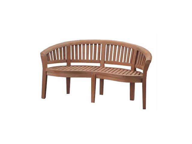 Anderson Teak Patio Lawn Furniture Curve 3 Seater Bench Extra Thick Wood