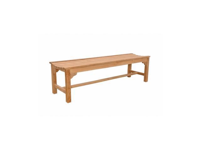 Anderson Teak Patio Lawn Furniture Hampton 3-Seater Backless Bench