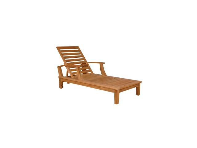 Anderson Teak Patio Lawn Furniture Brianna Sun Lounger with Arm