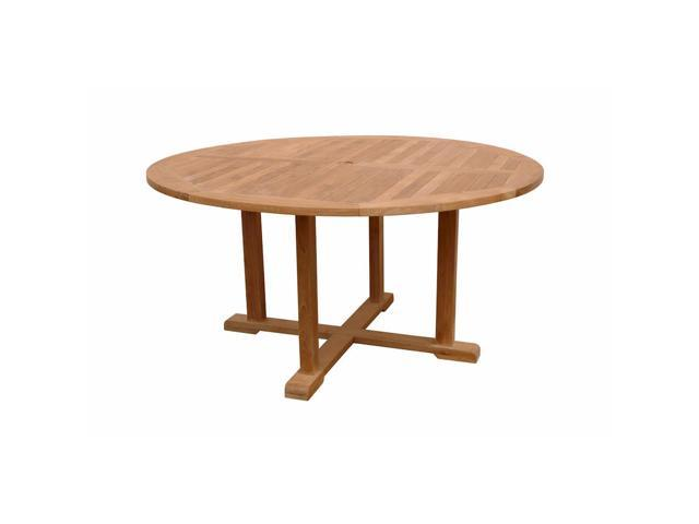 Anderson teak patio lawn furniture tosca 5 foot round for 10 foot round table