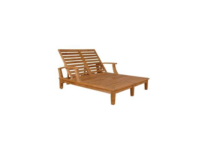 Anderson Teak Patio Lawn Furniture Brianna Double Sun Lounger with Arm