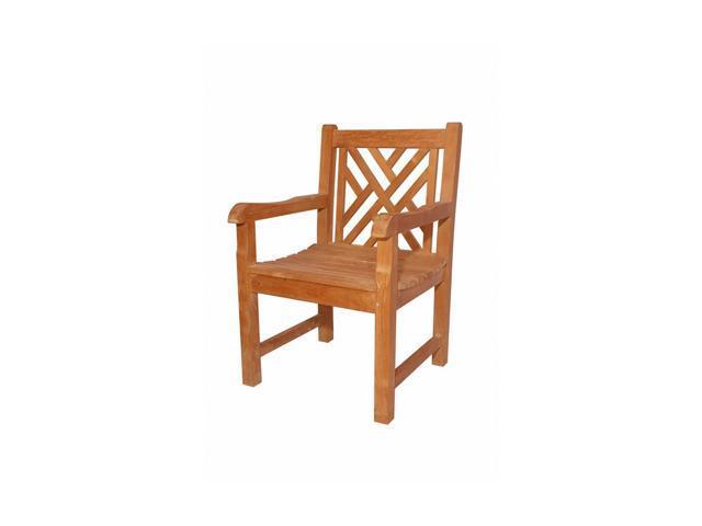 Anderson Teak Patio Lawn Furniture Vilano Dining Armchair
