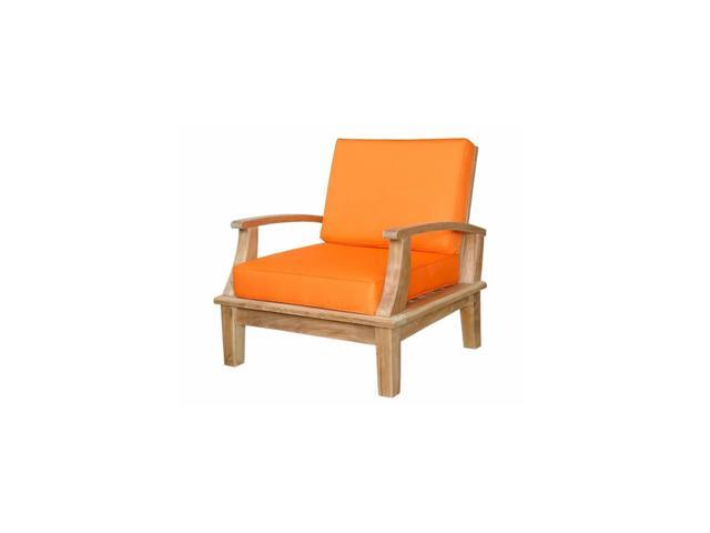 Anderson Teak Patio Lawn Furniture Brianna Deep Seating Armchair + Cushion