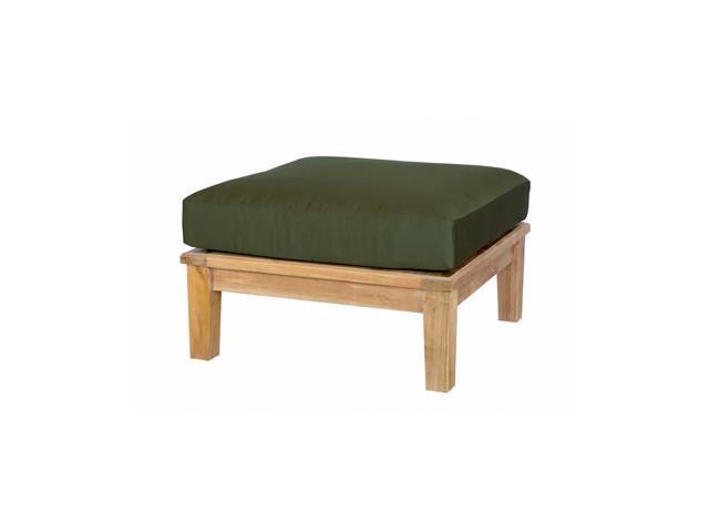 Anderson Teak Patio Lawn Furniture Brianna Ottoman + Cushion