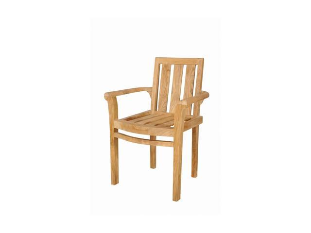Anderson Teak Patio Lawn Furniture Classic Stackable Armchair