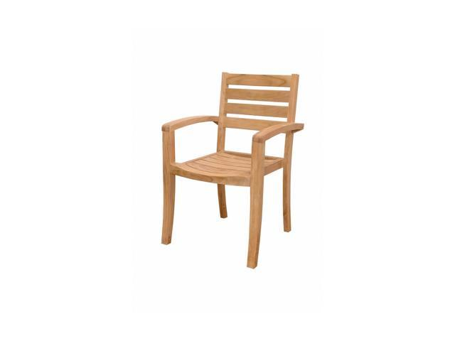 Anderson Teak Patio Lawn Furniture Catalina Stackable Armchair