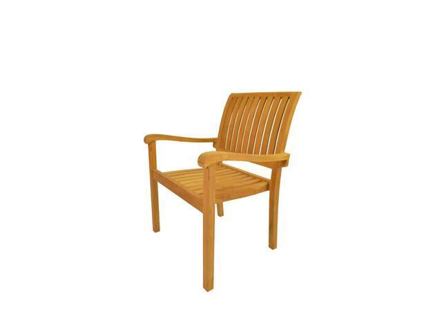 Anderson Teak Patio Lawn Furniture Aspen Stackable Armchair